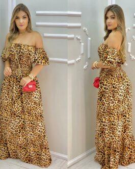 Vestido Onça Ciganinha